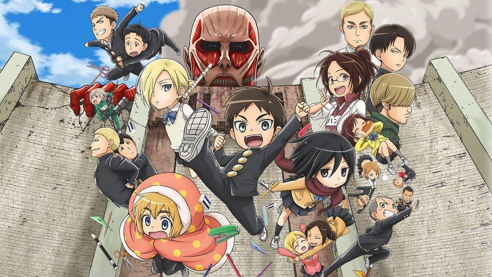 Постер Атака титанов средней школы 1 сезон 12 серия