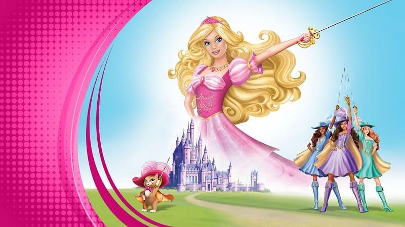 Постер Барби и три мушкетера